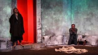 """Anna Andreotti et Ahmed Benaïssa dans """"Meursaults""""  (ANNE-CHRISTINE POUJOULAT / AFP)"""