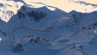 La piste de descente des JO de Sotchi (Russie), en février 2014. ( FRANCE 2 / FRANCETV INFO)