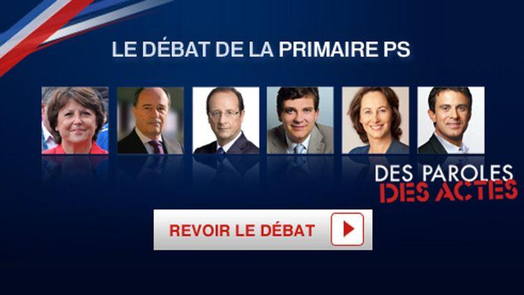 Les six prétendants à l'investiture socialiste se retrouveront jeudi soir sur France 2 pour défendre leur candidature. (France 2)
