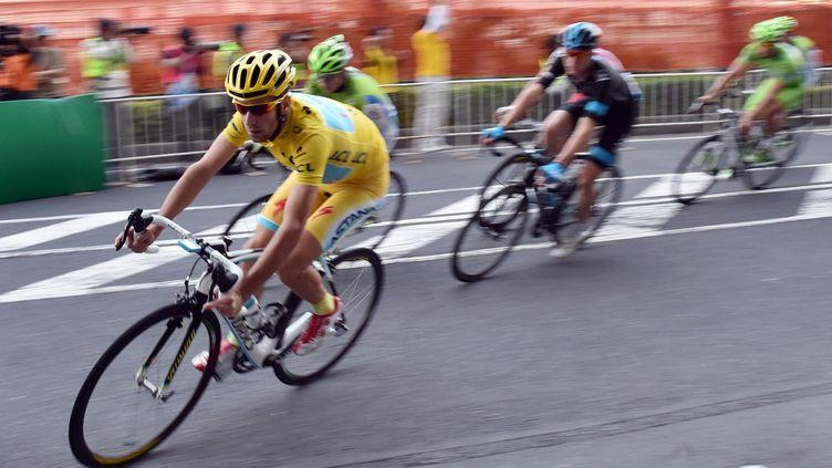 L'Italien Vicenzo Nibali, vainqueur du Tour de France 2014.  (YOSHIKAZU TSUNO / AFP)