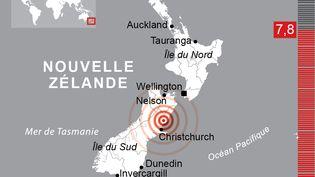 Un tremblement de terre de magnitude 7.8 s'est produit dimanche 13 novembre provoquant un tsunami. (VISACTU)