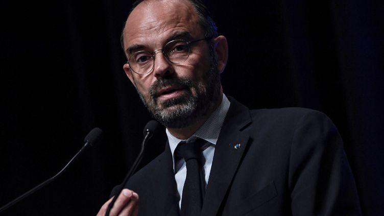Edouard Philippe, le 18 octobre 2019. (STEPHANE DE SAKUTIN / AFP)