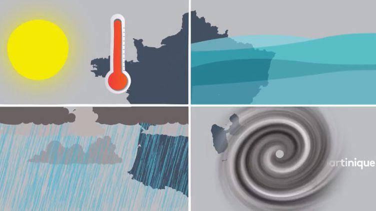 La France touchée par les canicules, les inondations, les tempêtes et les cyclones. (FRANCEINFO)