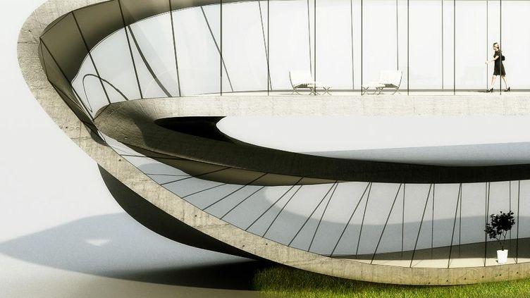 """Le projet """"Landscape House"""" de l'architecte néerlandaisJanjaap Ruijssenaars. (UNIVERSE ARCHITECTURE)"""