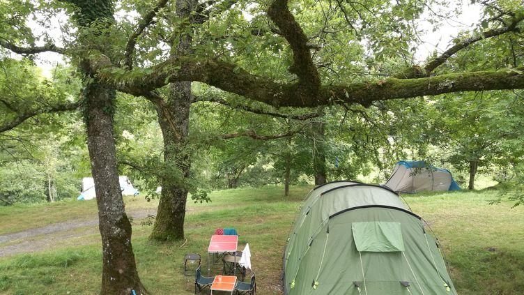 Vue d'un camping à la ferme à Alçay, en Haute-Soule (Pyrénées-Atlantiques). (JACQUES PONS / RADIOFRANCE)