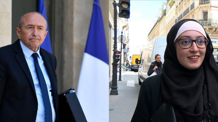 """Gérard Collomb a estimé que le voile d'une représentante de l'Unef était une """"provocation"""", vendredi 18 mai 2018. (AFP)"""