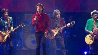 Les Rolling Stones sur scène auGlastonbury Festival (Angleterre) en 2013  (HUSSEIN ZAK/SIPA)
