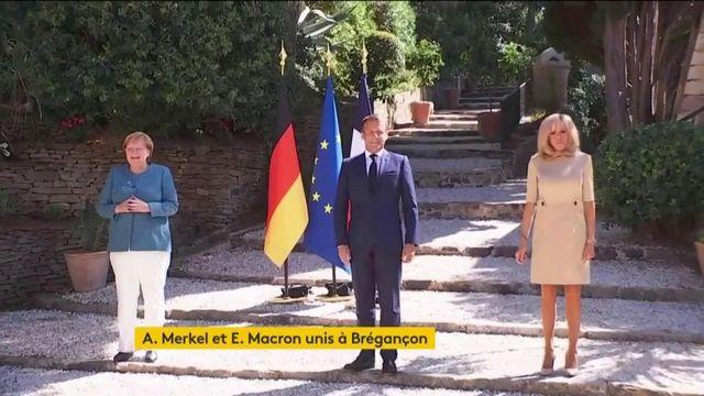 Angela Merkel reçue pour la première fois au fort de Brégançon