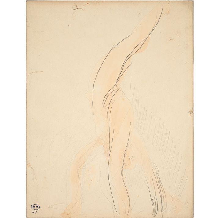 """Auguste Rodin, """"Femme nue qui fait le poirier"""", vers 1900  (musée Rodin, photo J. de Calan)"""