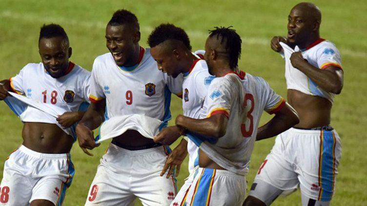 Les joueurs de la RD Congo (ISSOUF SANOGO / AFP)