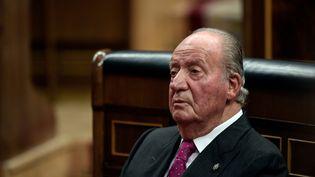 L'ancien roi d'Espagne Juan Carlos, le 6 décembre 2018 à Madrid. (OSCAR DEL POZO / AFP)