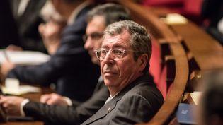 Le député-maire de Levallois-Perret, Patrick Balkany, dans l'hémicycle de l'Assemblée nationale, à Paris, le 27 janvier 2016. (YANN KORBI / CITIZENSIDE / AFP)