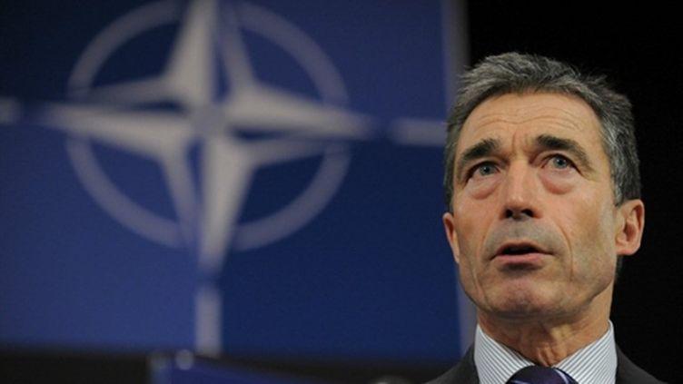 Fogh Rasmussen, le secrétaire général de l'OTAN (AFP PHOTO/JOHN THYS)