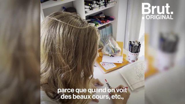 """Depuis deux ans, Mathilde réalise des fiches de révisions qui mêlent théorie et dessin. C'est le """"studygram"""", une tendance qui motive les étudiants à réviser. Voilà comment elle s'y prend."""