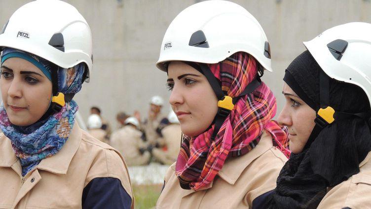 Casques blancs syriens,bénévoles de la Défense civile syrienne. (DR/Capture d'écran )