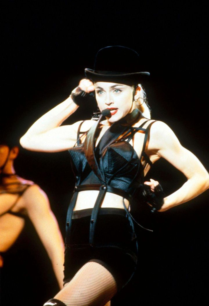 Madonna Performing on the 'Blonde Ambition' Tour, Tokyo, Japan - Apr 1990  (Sipa Presse by Eugene Adebari / Rex Features )
