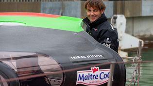 Yannick Bestaven sera au départ du Vendée Globe le8 novembre 2020, unecourse unique, en voilier, en solitaire, sans escale et sans assistance qui déchaîne les passions tous les 4 ans depuis 1989. (JEAN-MARIE LIOT)