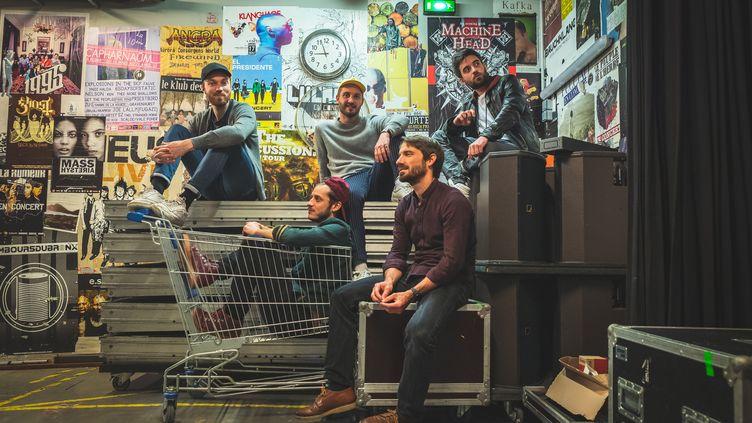 Le quintet de Léon Phal, de gauche à droite : Gauthier Toux, Arthur Alard, Léon Phal, Rémi Bouyssière, Zacharie Zsyk (Vinc VDH)