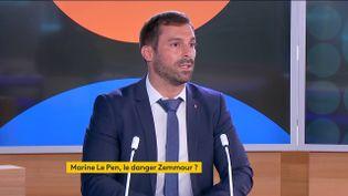 Julien Odoul, porte-parole du Rassemblement national, le 8 septembre 2021 sur franceinfo. (FRANCEINFO)