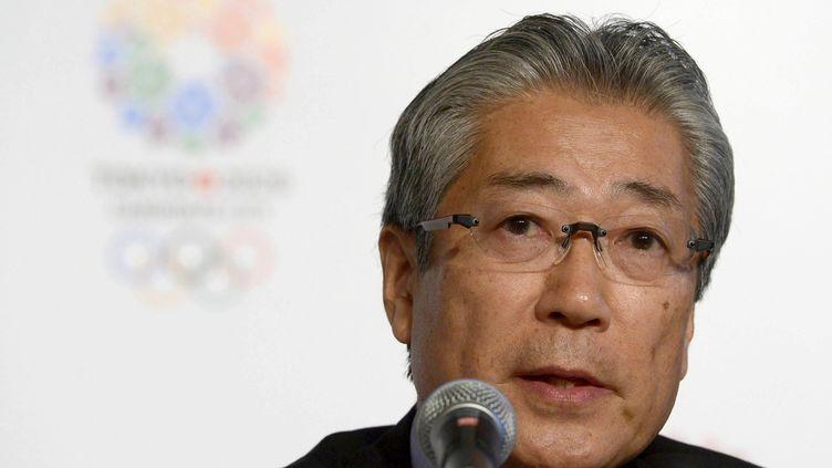 Le président du Comité olympique japonais, Tsunekazu Takeda, est soupçonné par la justice française d'avoir autorisé le versement de pots-de-vin, dans le but d'obtenir l'obtention des Jeux d'été en 2020. (Juan Mabromata / AFP)