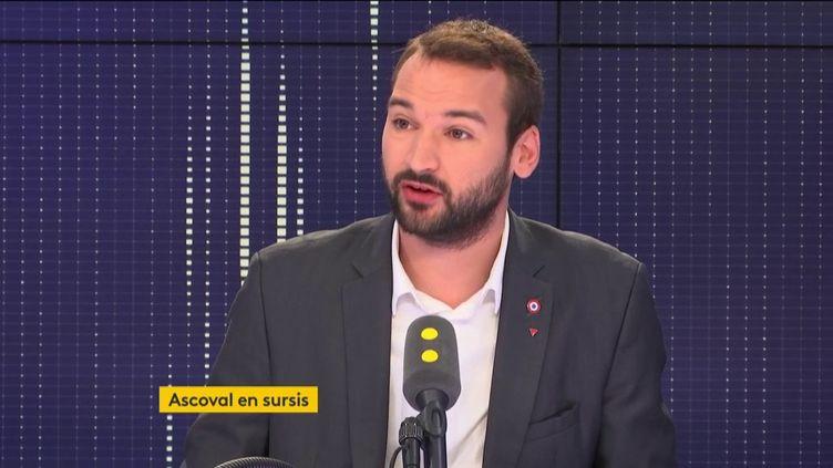 Le député La France insoumise Ugo Bernalicis invité de franceinfo jeudi 25 octobre. (FRANCEINFO/RADIOFRANCE)