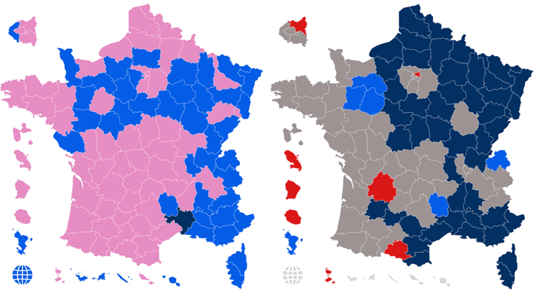Présidentielle : découvrez l'évolution du vote entre 2012 et 2017 en gif animé (FRANCEINFO)