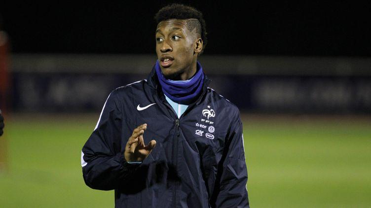(Kingsley Coman lors d'un entrainement avec l'Equipe de France le 9 novembre 2015 ©MaxPPP)