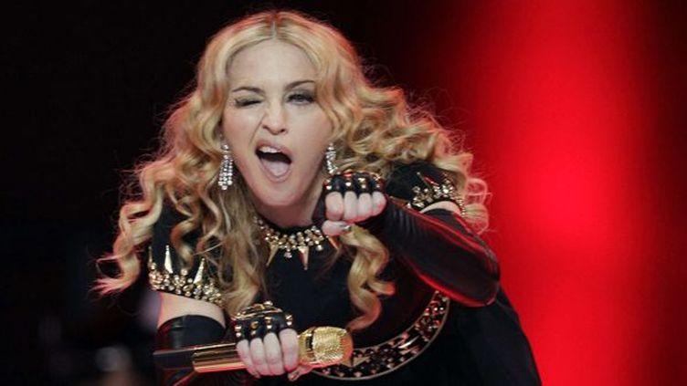 Madonna dimanche 5 février à la mi-temps du Super Bowl.  (David J. Phillip/AP/SIPA)