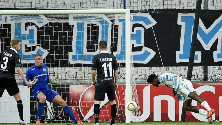 Michy Batshuayi a inscrit le but du 2-1 dans les dernières minutes (BORIS HORVAT / AFP)