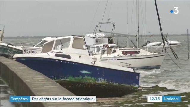 Tempête Amélie : dégâts sur le littoral atlantique