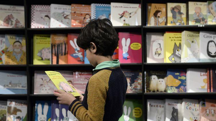 Un lecteur au Salon du Livre jeunesse de Montreuil.  (Stéphane de Sakutin / AFP)