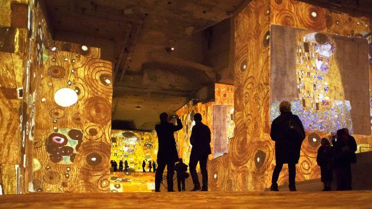 """""""Klimt et Vienne"""", Carrière de Lumières, Baux de Provence, 2014  (BERTRAND LANGLOIS / AFP)"""