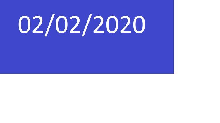 Le 2 février 2020 est une date palindrome. (FRANCEINFO)