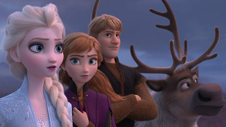"Elsa, Anna, Kristoff et Sven dans ""La Reine des neiges 2"".  (The Walt Disney Company France)"