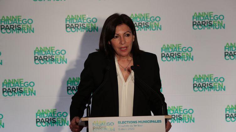 Anne Hidalgo, le 15 mars 2020, à Paris. (JOEL SAGET / AFP)