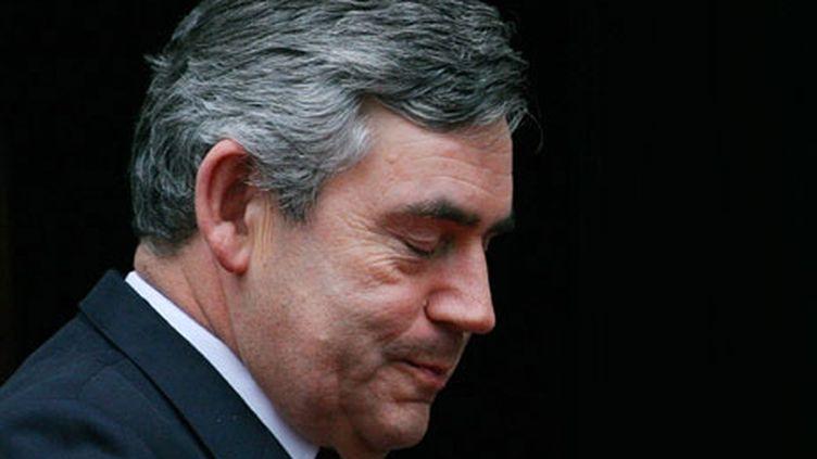 Le Premier ministre britannique Gordon Brown (6 octobre 2008) (AFP / Carl de Souza)