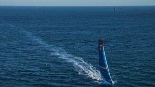 Linkedout, le bateau skippé parThomas Ruyant (PIERRE BOURAS / TR RACING)