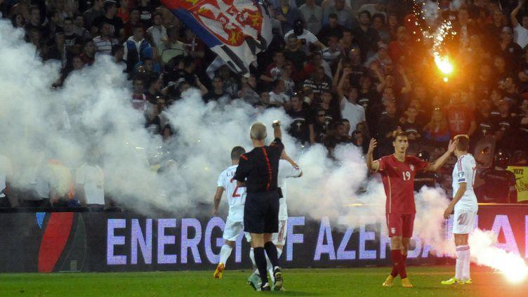 La rencontre entre la Serbie et l'Albanie avait été interrompue après de graves incidents (ALEXANDAR DJOROVICH / RIA NOVOSTI)