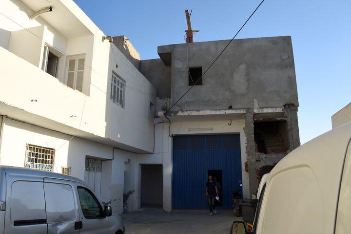 La maison de la famille deMohamed Lahouaiej Bouhlel àMsaken (Tunisie), le 15 juillet 2016. (FETHI BELAID / AFP)
