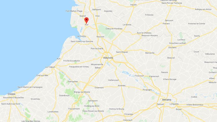 Deux personnes sont mortes mardi soir dans un crash d'ULM sur la commune de Rue (Somme). (GOOGLE MAPS)