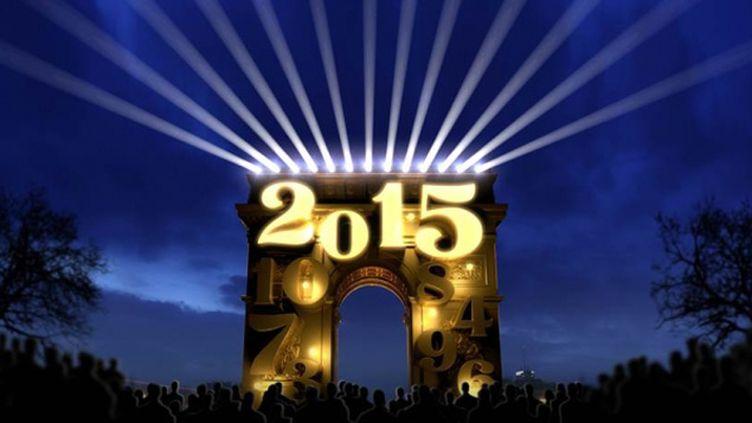 (L'Arc de Triomphe au soir du 31 décembre © Mairie de Paris)