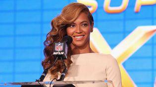 Beyoncé à la conférence de presse du Superbowl, le 31 janvier 2013 à la Nouvelles-Orleans, en Louisiane  (Christopher Polk / Getty Images / AFP)