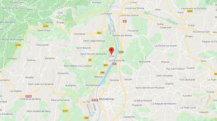 Cruas (Ardèche). (CAPTURE D'ECRAN GOOGLE MAPS)
