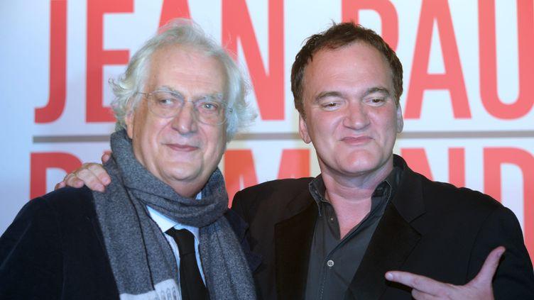 Bertrand Tavernier et Quentin Tarantin, au festival Lumière 2013, Lyon (PIERRE AUGROS / MAXPPP)