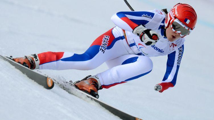 Marie Bochet une fois de plus impressionnante sur le Super-Combiné (KIRILL KUDRYAVTSEV / AFP)