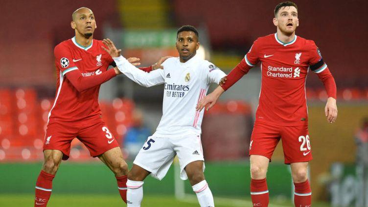Malmené contre Liverpool, le Real Madrid se qualifie pour les demi-finales (3-1 à l'aller, 0-0). (PAUL ELLIS / AFP)