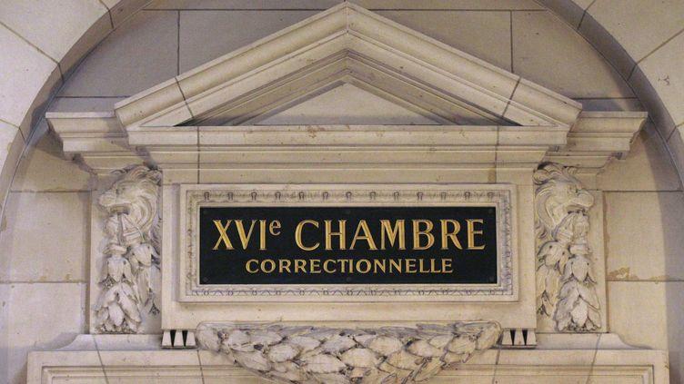 Fronton de la 16ème chambre correctionnelle du Palais de justice de Paris.Photo prise le 17 octobre 2011. (JACQUES DEMARTHON / AFP)