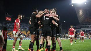 La Nouvelle-Zélande a gagné 102 à 0 contre les Tonga. (MICHAEL BRADLEY / AFP)