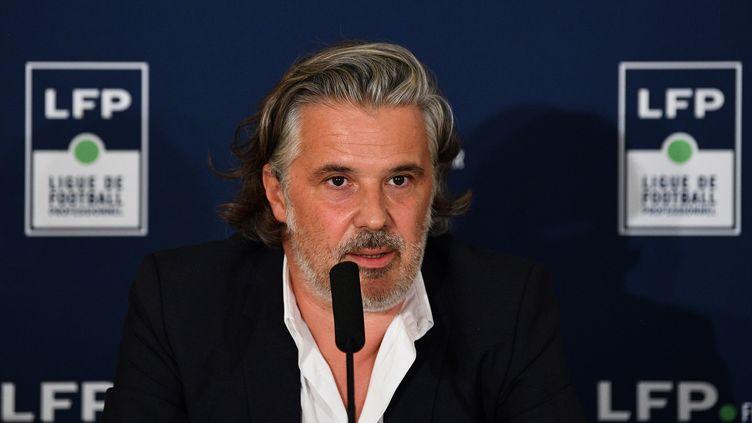 Vincent Labrune, le président de la Ligue de football professionnel.  (FRANCK FIFE / AFP)