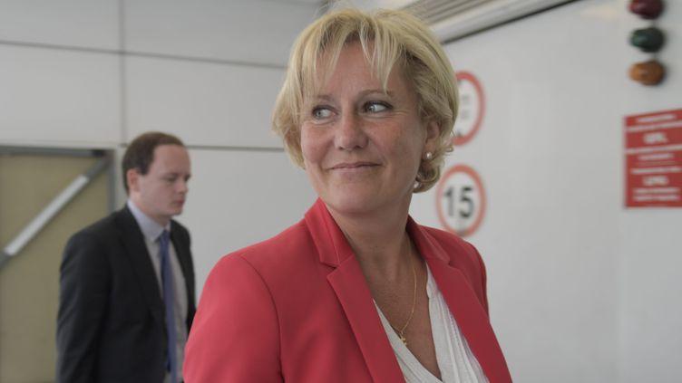 Nadine Morano arrive au siège des Républicains à Paris, le 12 juin 2017. (MAXPPP)